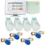 Honeywell EvoHome Wifi 4-zone radiatorpakket opentherm inclusief 4x gratis Kombi-TRV 1/2