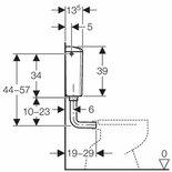 Geberit laaghangend reservoir met spoel/stop bediening wit 136.607.11.1