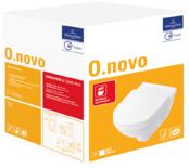 O.novo Combi-Pack diepspoel closet met zitting Soft-Closing en afvoer horizontaal wit alpin