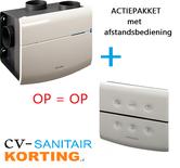 Orcon Smartline MVS-15RH woonhuisventilator met vochtsensor + afstandsbediening 15RF  OP=OP