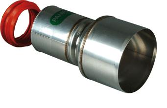 Panflex verloop+ring 80 op ketel