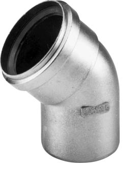 Dikwandig aluminium bocht 45gr 80mm 400451554