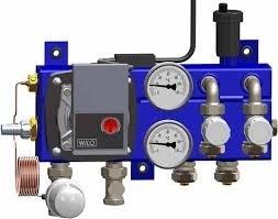 Pentec vloerverwarmingverdeler stand.2gr. + Wilo A-label pomp 2010-6-02-01