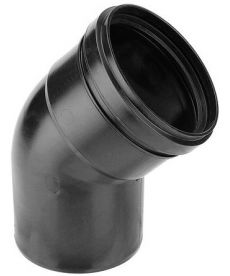 Burgerhout BM-AIR Bocht 45° 80mm mof x spie PP zwart