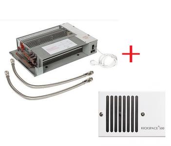 Kickspace 500  Indirect gestookte plintverwarming 98604 + Rooster WIT OP=OP